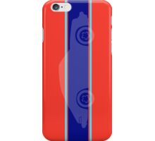 Tangerine with Aqua Stripes  iPhone Case/Skin