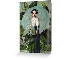 Morning Dew Girl Greeting Card