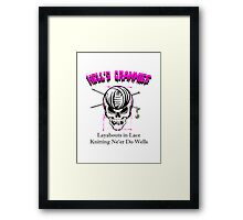 Knitting Ne'Er Do Wells Framed Print