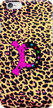 ۞»★Initial D on Leopard Print iPhone & iPod Cases★«۞ by Fantabulous