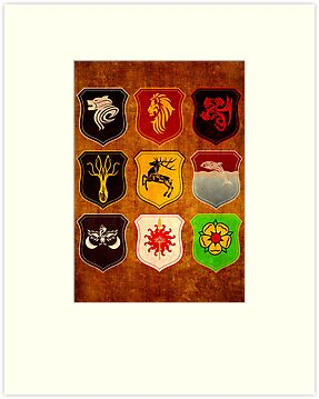 Houses Of Westeros - Assemble! by amanoxford