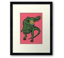 Dinosaur Pineapple Framed Print