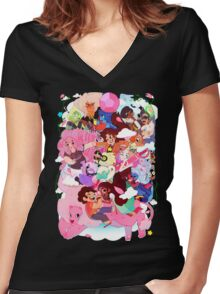 Steven Universe Family Women's Fitted V-Neck T-Shirt