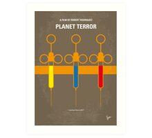 No165 My Planet terror minimal movie poster Art Print