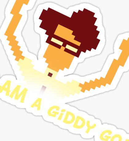Maurice Moss - I AM a giddy goat (I.T. Crowd Design) Sticker