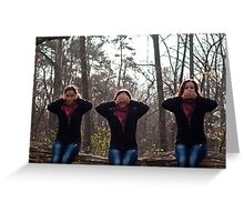 The deaf, blind and the mute girl Greeting Card