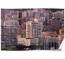 photography a a global view on the city of Monaco. Poster