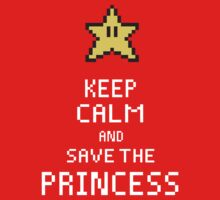 Keep Calm And Save The Princess V.2 Kids Clothes
