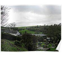 View From Uplyme Churchyard, Devon, UK Poster