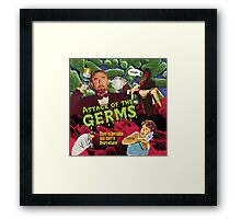 Attack of the Germs! Framed Print