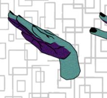 Rock Paper Scissors. (Lizard Spock)  Sticker