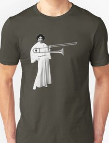 Leia with a trombone, and a smile T-Shirt