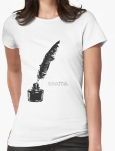 Write. Womens Fitted T-Shirt