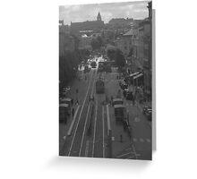 Main street in Gothenburg Greeting Card