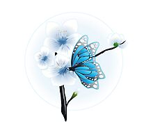 Joy Of Spring Case - Spring Blossom & Blue Butterfly Photographic Print