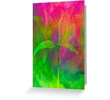 """Magnolia (from """"Painted flowers"""" collection) Greeting Card"""