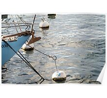 docking boat on the water  Poster