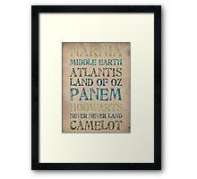 The World of Fantasy Framed Print