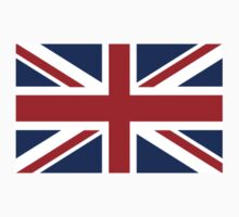 Union Jack, British FLAG UK, Pure & simple; Landscape with white background by TOM HILL - Designer
