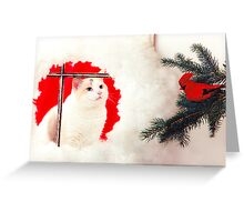 LILY AT CHRISTMAS TIME Greeting Card