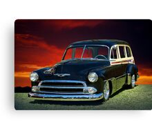 1951 Chevy Woody Wagon Canvas Print