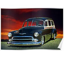 1951 Chevy Woody Wagon Poster