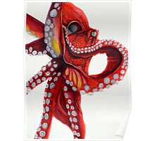 Red Octopus Poster