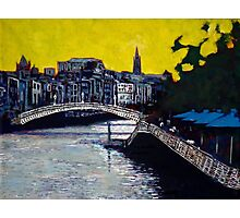 Hapenny Bridge & Boardwalk, Dublin Photographic Print