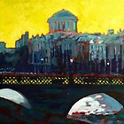 Grattan Bridge, Four Courts, Dublin by eolai