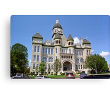 Route 66 - Jasper County Courthouse Canvas Print