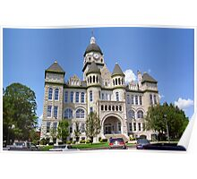 Route 66 - Jasper County Courthouse Poster