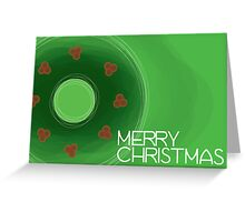 Holly Wreath - Christmas Card Greeting Card