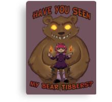 Annie and her Bear Canvas Print
