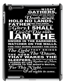 Night's Watch Oath--BLACK by mcgani