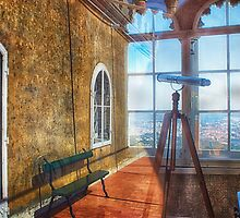 Pena Palace Window Reflection, Sintra, Portugal by Taylor Moore