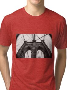 Brooklyn Bridge B/W Tri-blend T-Shirt