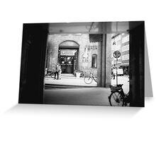 #NeinGrenze - bw Street Greeting Card