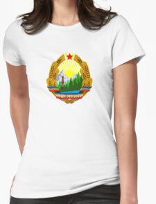 Emblem of Romania, 1965-1989 Womens Fitted T-Shirt