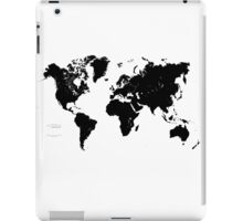 Black & White World Map iPad Case/Skin