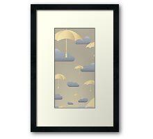 UMBRELLAS & CLOUDS Framed Print