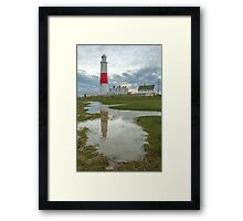 Portland Bill Puddle Framed Print