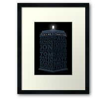 Name of the Doctors Framed Print
