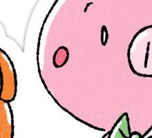 Pumpkin Wagon Piggy Sticker