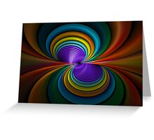 Colored Tubes Greeting Card