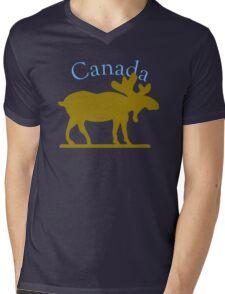 Canada Moose Mens V-Neck T-Shirt