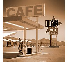 Route 66 - Roy's Motel Photographic Print