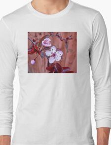 Mock Plum Blossoms Long Sleeve T-Shirt