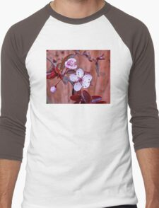 Mock Plum Blossoms Men's Baseball ¾ T-Shirt