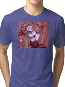 Mock Plum Blossoms Tri-blend T-Shirt