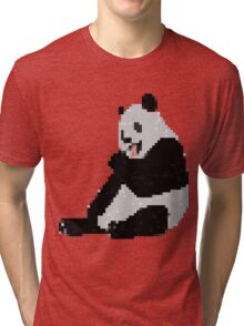 8-Bit Panda Tri-blend T-Shirt